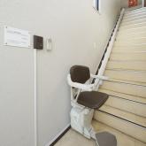 当院は2Fですが、階段が辛い方には専用エレベーターがあります。